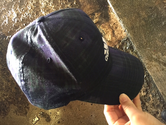 ビショビショの帽子
