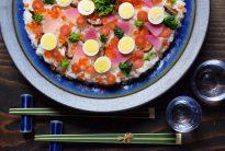 20170114_出西窯の大皿にちらし寿司